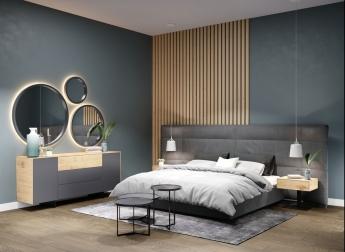 Кровать Concord. Мягкая новинка для сна и отдыха