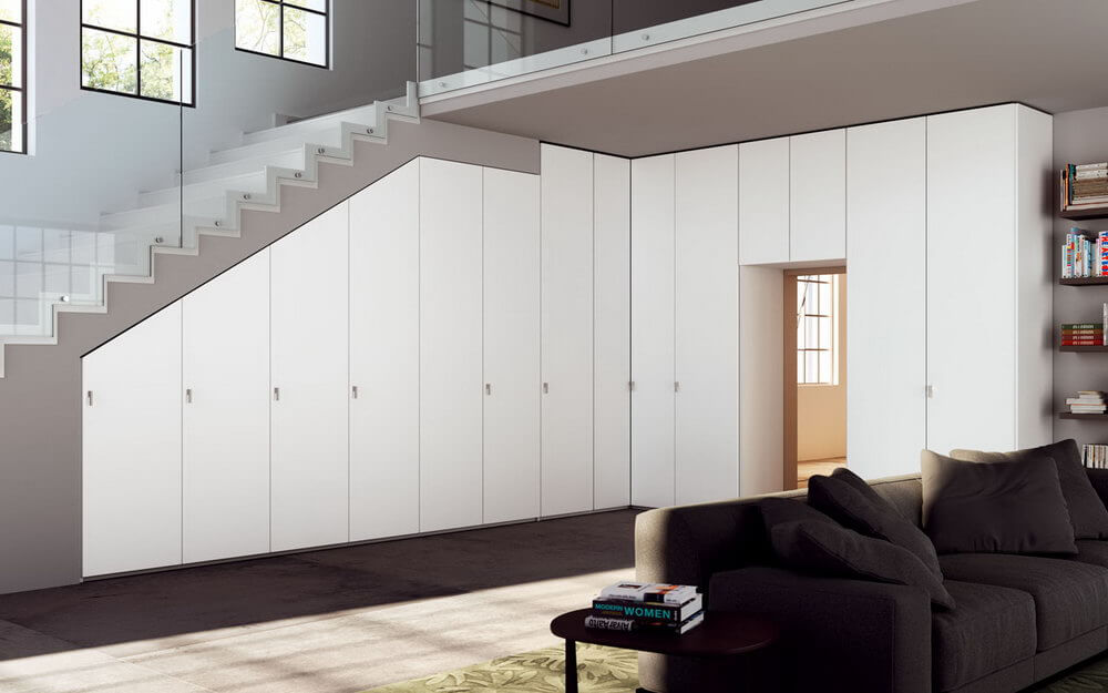 Встроенный распашной шкаф 3 встроенные (распашные шкафы).